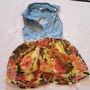 guess girls sleeveless denim flower dress 2